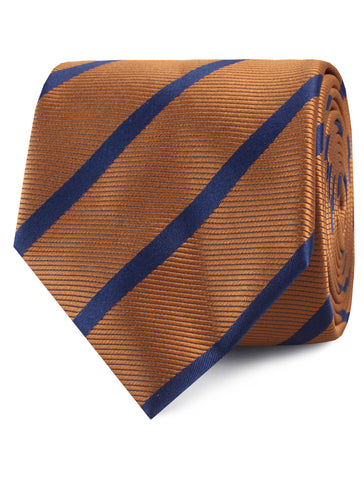Golden Brown Pencil Stripe Tie