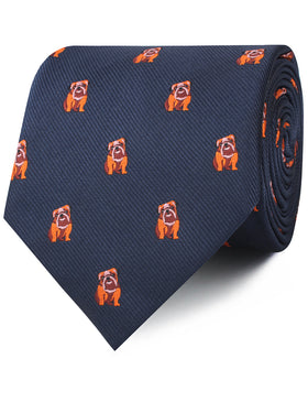 Golden Bulldog Necktie