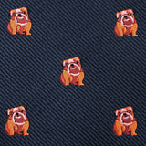 Golden Bulldog Pocket Square Fabric