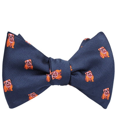 Golden Bulldog Self Bow Tie