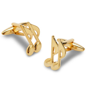 Golden Musical Notes Cufflinks