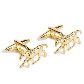 Golden Phar Lap Racehorse Cufflinks