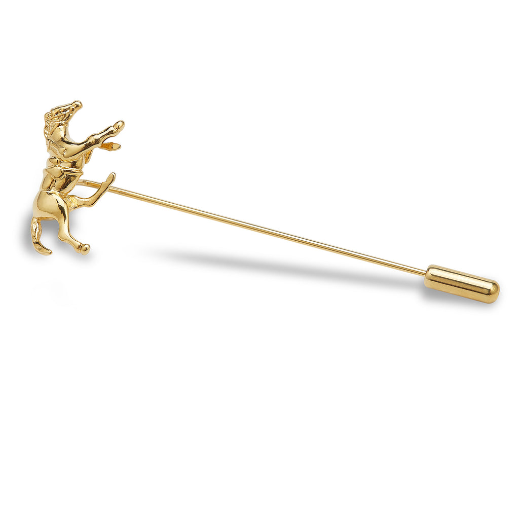 Golden Phar Lap Racehorse Lapel Pin
