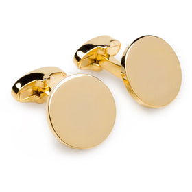 Goodfellas Gold Circle Cufflinks