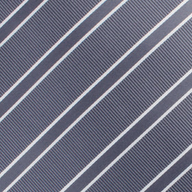 Graphite Charcoal Grey Double Stripe Pocket Square