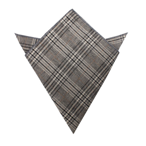 Gray Glenurquhart Linen Pocket Square