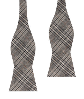 Gray Glenurquhart Linen Self Bow Tie