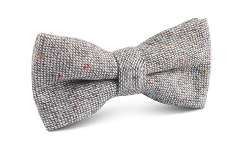 Gray Sharkskin Bow Tie