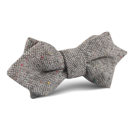 Gray Sharkskin Diamond Bow Tie