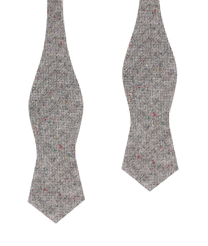 Gray Sharkskin Diamond Self Bow Tie