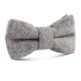 Gray Sharkskin Kids Bow Tie