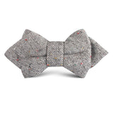 Gray Sharkskin Kids Diamond Bow Tie