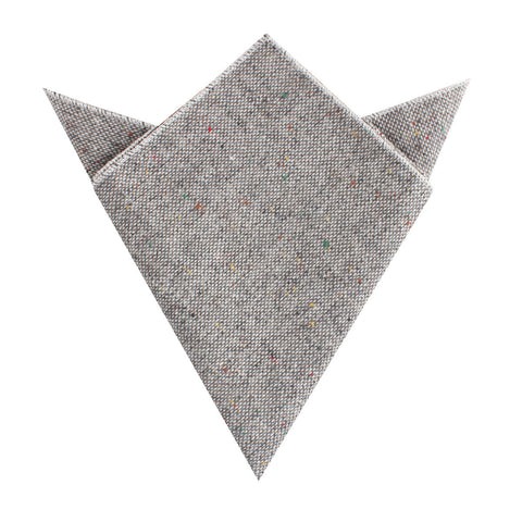 Gray Sharkskin Pocket Square