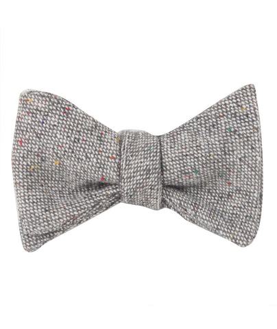 Gray Sharkskin Self Bow Tie