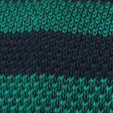 Green Mamba Striped Knitted Tie Fabric