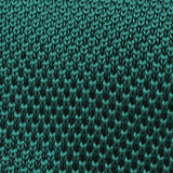 Green Teal Knitted Tie Fabric