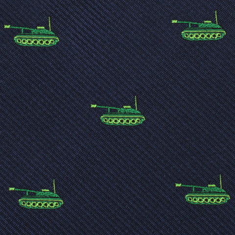Green Army Tank Kids Bow Tie