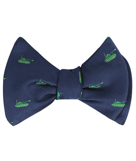 Green Army Tank Self Bow Tie