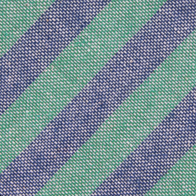 Green & Blue Bengal Linen Pocket Square