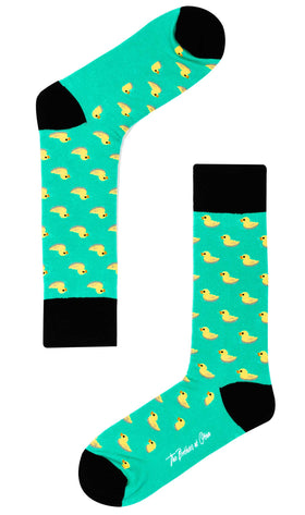 Green Floating Duck Socks