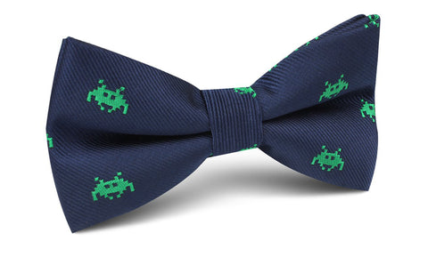 Green Invader Bow Tie