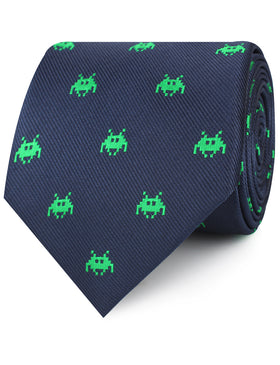 Green Invader Necktie