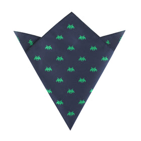 Green Invader Pocket Square