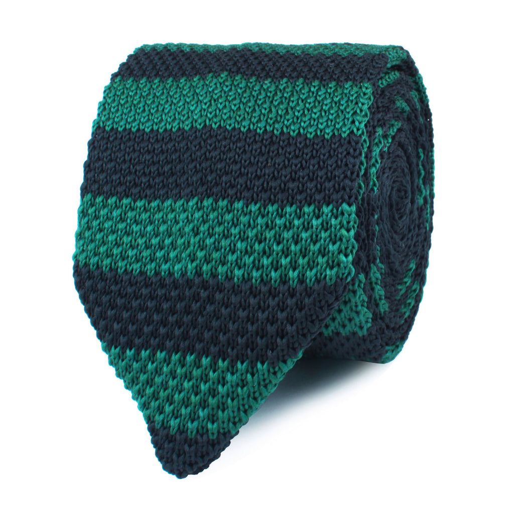 Green Mamba Striped Knitted Tie