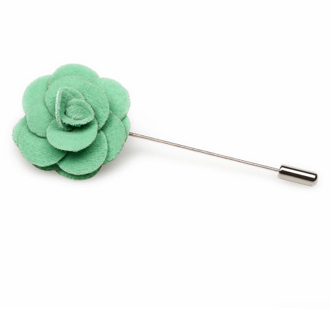Green Mini Velvet Lapel Pin