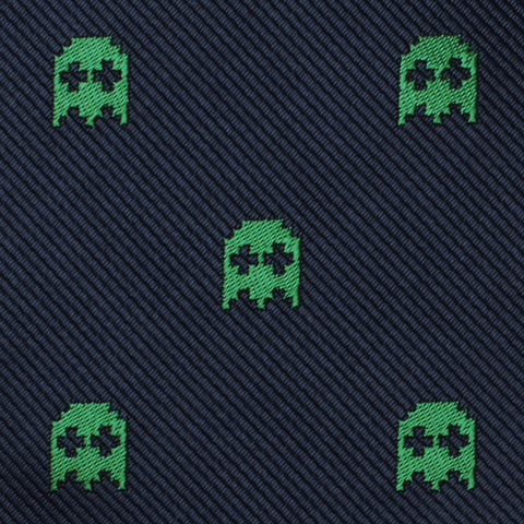 Green Pixel Ghost Bow Tie
