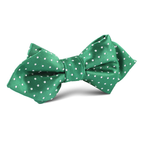 Green Polka Dot Diamond Bow Tie