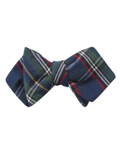 Green Scottish Kilt Diamond Self Bow Tie