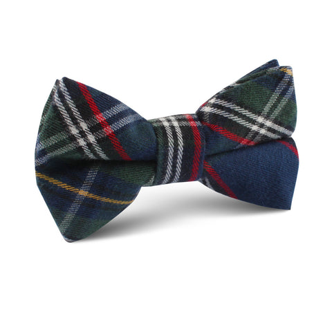 Green Scottish Kilt Kids Bow Tie