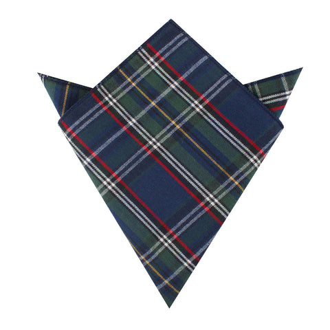 Green Scottish Kilt Pocket Square
