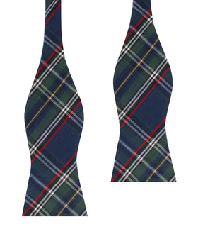 Green Scottish Kilt Self Bow Tie