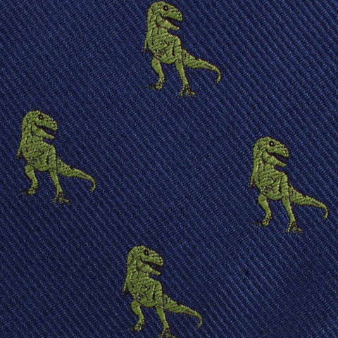 Green T-Rex Dinosaur Kids Diamond Bow Tie