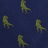 Green T-Rex Dinosaur Fabric Self Bowtie