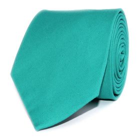 Green Teal Cotton Necktie