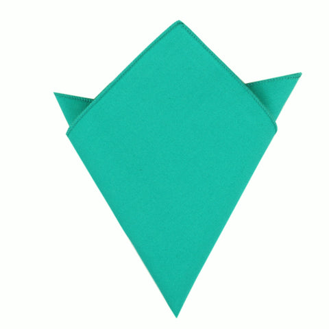 Green Teal Cotton Pocket Square