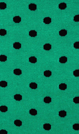 Green Teal Dot Socks