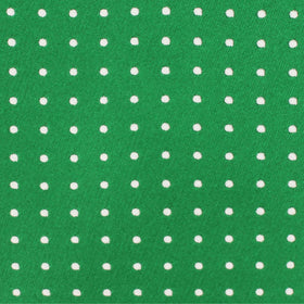 Green Pocket Square with White Polka Dots