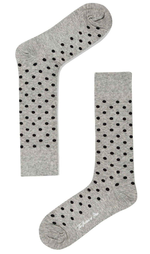 Grey Black Polka Dot Socks