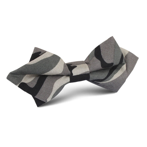 Grey Camo Diamond Bow Tie