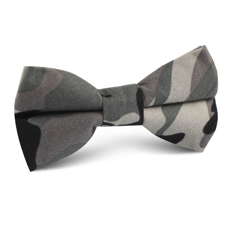 Grey Camo Kids Bow Tie