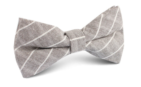 Grey Edinburgh Pinstripe Bow Tie