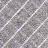 Grey Edinburgh Pinstripe Fabric Necktie