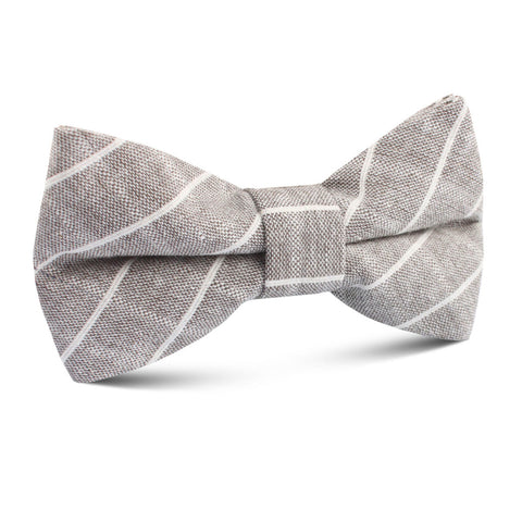 Grey Edinburgh Pinstripe Kids Bow Tie
