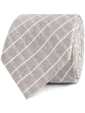 Grey Edinburgh Pinstripe Necktie