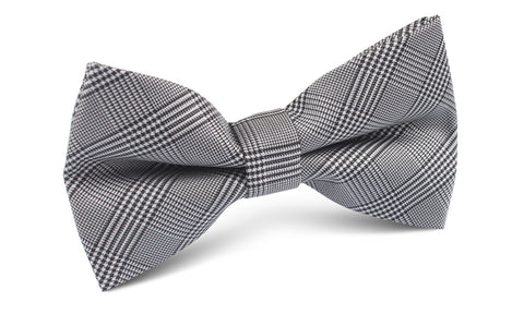 Grey Glen Plaid Bow Tie