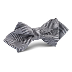 Grey Glen Plaid Diamond Bow Tie